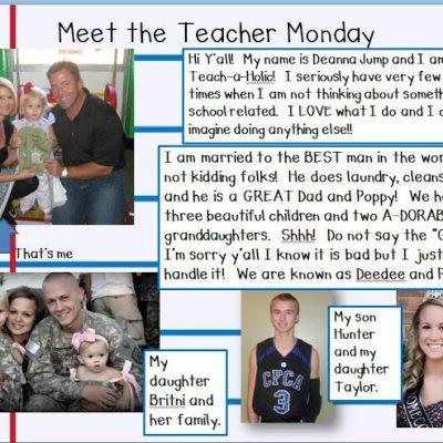 Meet the Teacher Monday