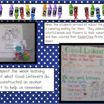 The First Week of School Part One….. Pirate sheet added per request!
