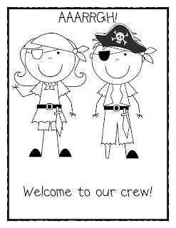 The First Week of School Part One..... Pirate sheet added per request!