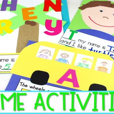 Fun Name Activities for Early Learners | Crafts and Interactive Charts!