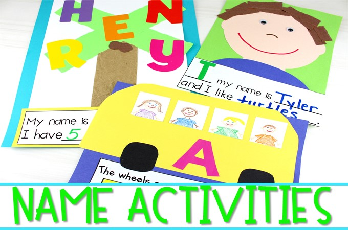 Name activities for early learners. Students will have fun practicing their names with these math and literacy activities that are great for back to school!