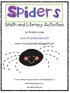 Spiders Math and Literacy Activities