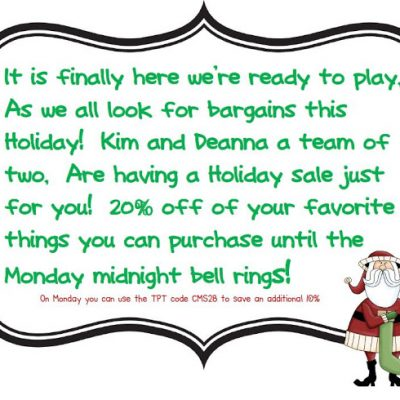 Holiday Sale save now through Monday!