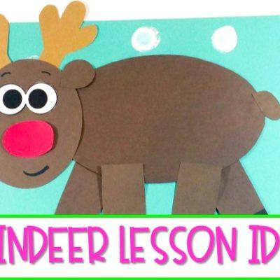 Reindeer Lessons & Activities! (Reindeer Book Freebie)