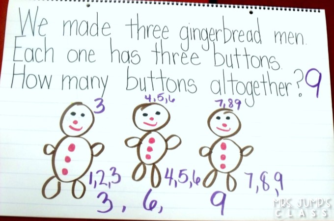 Gingerbread Fun Classroom activities for kindergarten with a free file. Math, literacy, crafts, and more! Kindergarten holiday play ideas too!