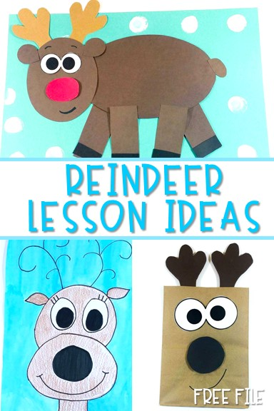 Reindeer Lesson Plans with informational text Free file. Includes crafts, writing, reading and more for your kindergarten lessons or first grade lessons.
