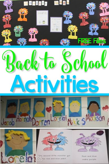Back to School activities and lesson plans for kindergarten. Student name and color activities. You will also find a themed planning calendar to help organize your kindergarten and first-grade lessons.