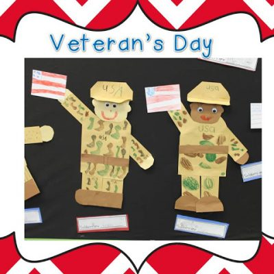 Adorable soldiers for Veterans Day
