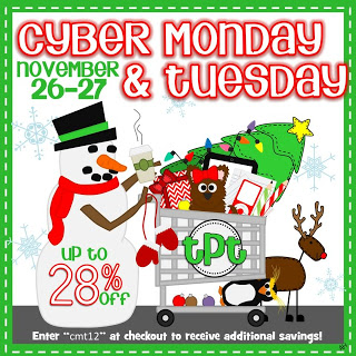Cyber Monday and Bonus Tuesday TPT sale!