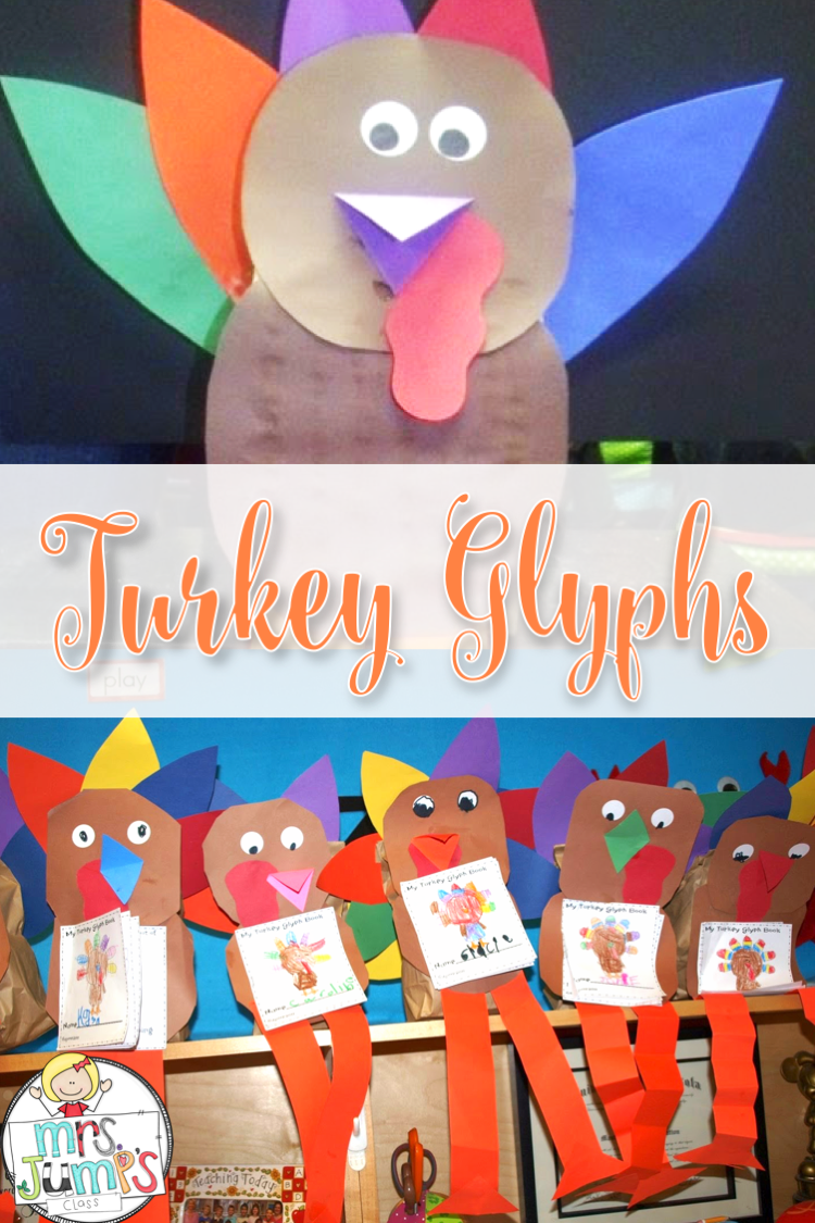 Turkey disguise glyph craft math and writing activity with a free file for your kindergarten and first grade classrooms. So perfect for Thanksgiving.