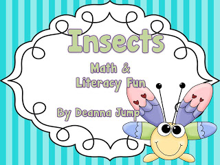 Insects Math & Literacy Fun