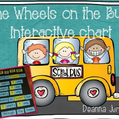 The Wheels on the Bus Interactive Chart FREE Download