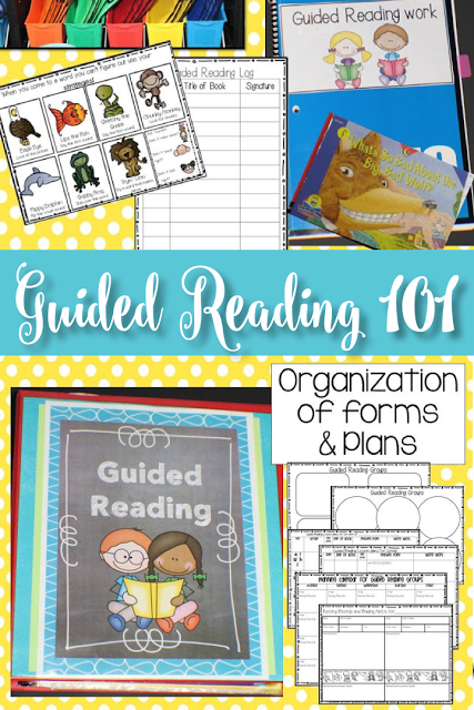 Guided Reading 101 in kindergarten and 1st grade!  Lesson ideas, planning, organization, grouping students and more for print and teach lessons.
