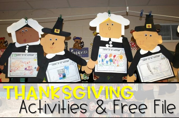 Kindergarten Activities for Thanksgiving FREE files are included in this blog post. Writing and social studies for November!