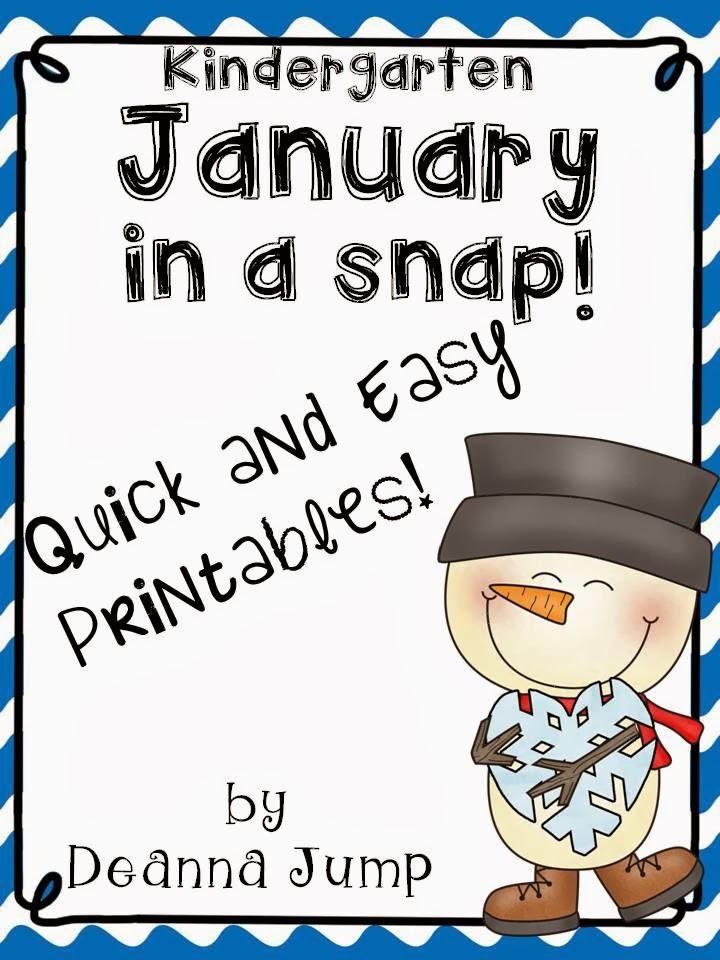 January in a Snap!  Freebie