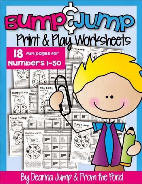 Update on Interactive Reading Journal freebie and Bump & Jump Numbers