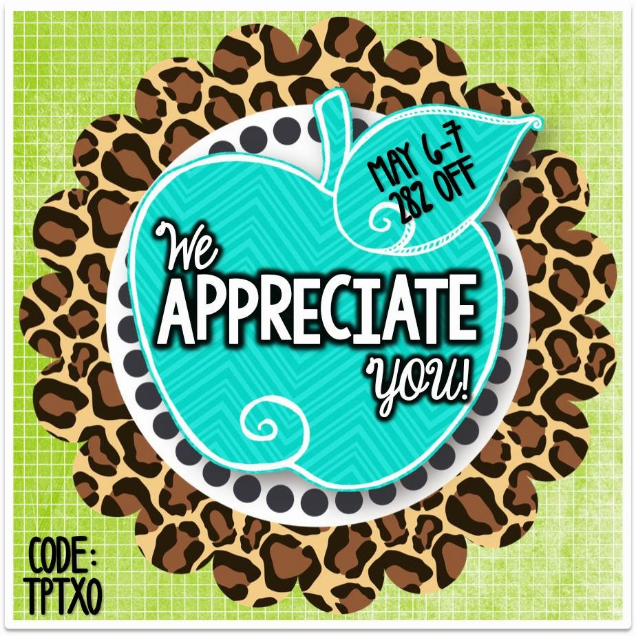 Teacher Appreciation FREEBIES! and a TPT SALE!