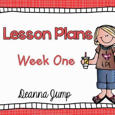 Lesson Plans Week One: Peek at My Week