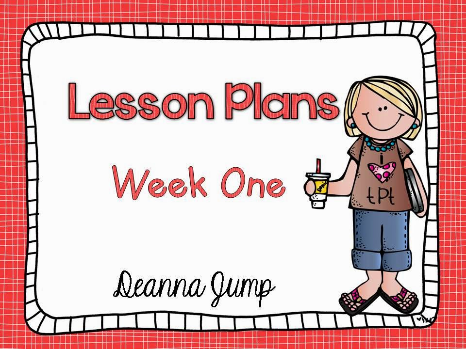 Lesson Plans Week One: Peek at My Week