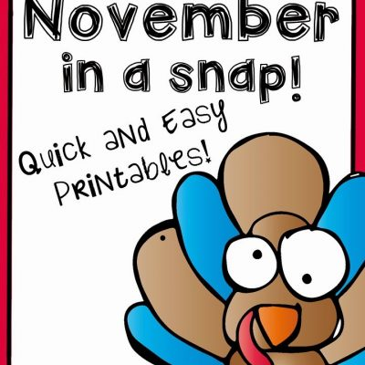 November Worksheets in a Snap {FREEBIE}