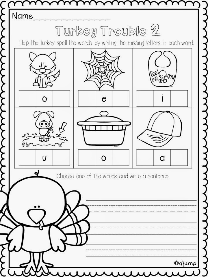 Free November Worksheets for kindergarten
