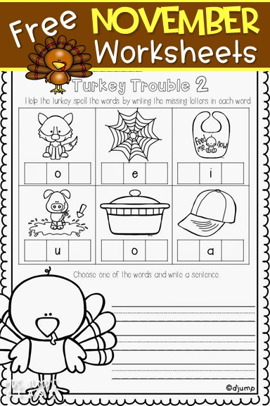 FREE November Worksheets