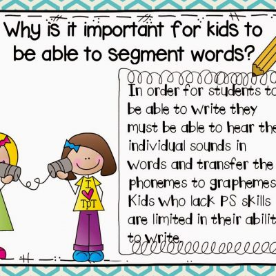 Phoneme Segmentation!  Make and Take Freebie and Book Talk Tuesday