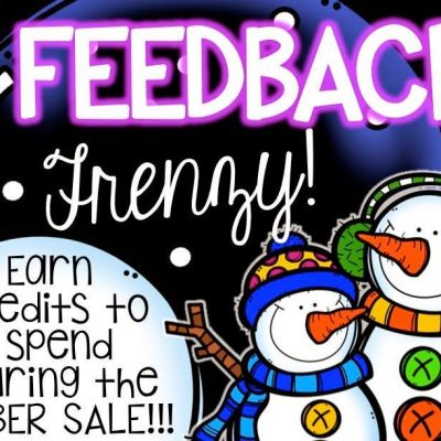 Feedback Frenzy!  Earn points to spend during the TPT sale