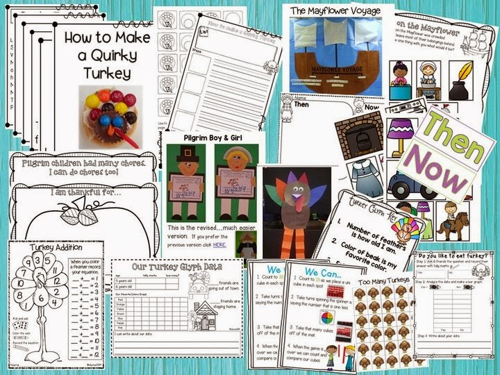 Thanksgiving math & literacy fun