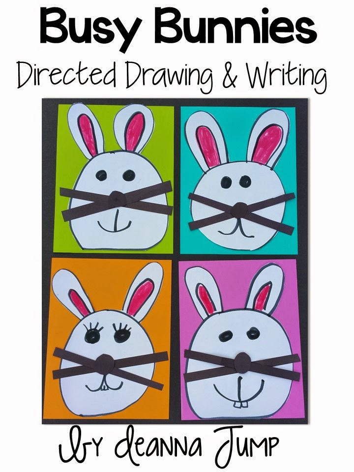 Spring Directed Drawings free file with a writing activity. These are perfect for Easter! Your kindergarten and 1st grade students will love this!
