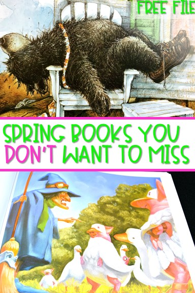 Spring books for kindergarten and first grade. See some of my favorite read aloud lesson and activities for spring! Ideas and directed drawing too.