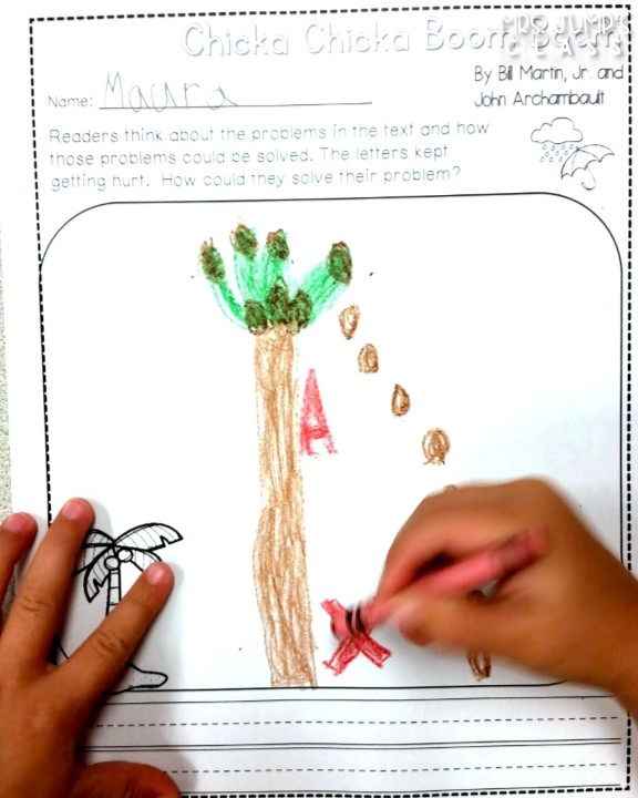 Chicka Chicka Boom Boom Activities for Back to School. Kindergarten and first grade classroom ideas with a Chicka Chicka Boom Boom directed drawing, science, and writing!