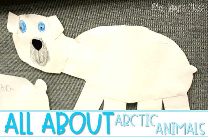 Arctic Animals Polar Bears and Walruses lesson plan ideas for kindergarten and first grade.  Reading, Writing, and craft!