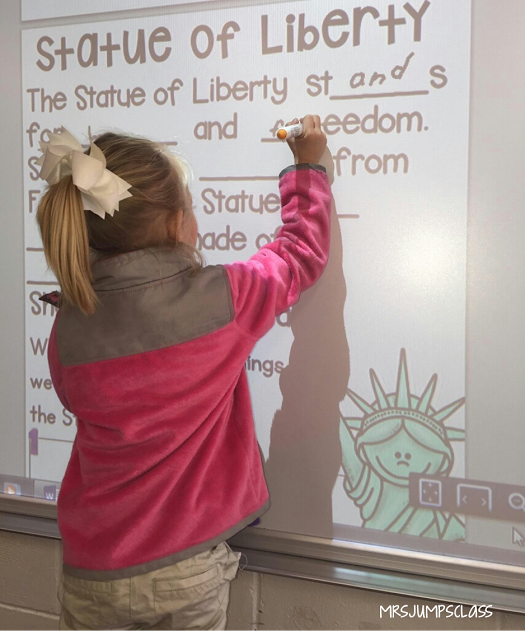 American Symbols is one of my favorite units to teach!  I took all of the facts about the U.S. symbols and broke them down into fun, engaging lessons.  Here are a few pics of some of the activities.