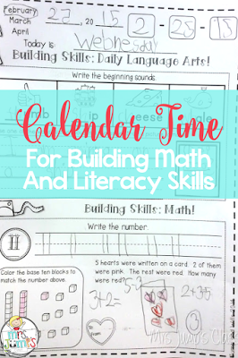 Calendar Time:  Building Math and Literacy Skills!