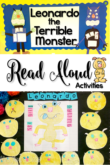 Leonardo the Terrible Monster Lesson plans. Anchor charts for reading comprehension plus student response activities. Perfect for kindergarten and first grade!