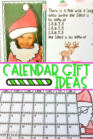 Christmas Calendar Parent Gift Ideas for the Classroom. Students will make a parent calendar. These Calendar gifts are updated each year!