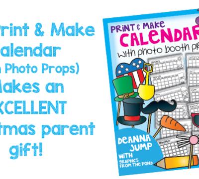 Christmas Calendar Parent Gift