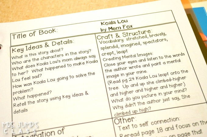 kindergarten Reading lesson plans