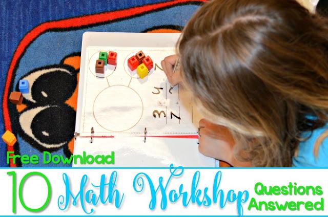 Kindergarten Math Workshop! See how we build math fluency and number sense through everyday math workshop!