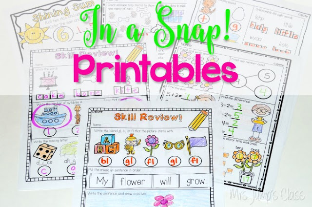 Printable Files for Busy Teachers FREE File