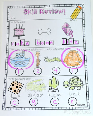 Kindergarten worksheets for Language Arts and Math Review