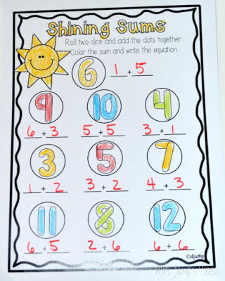 Printable worksheets for busy teachers.  Kindergarten and first grade for math and literacy skills.