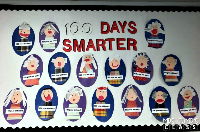 100th Day of School Activities for kindergarten and first grade. Such a fun celebration! See how we celebrate with math centers, reading, writing, and a fun craft!