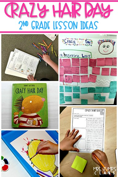 Crazy Hair Day Reading Lesson Ideas for 2nd grade. Reading comprehension strategies and responding to literature with these fun activities.