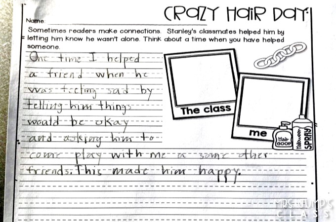 Crazy Hair Day Reading Lesson Ideas For Second Grade