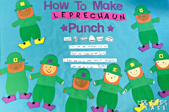St. Patrick's Day activities for kindergarten and first grade. Cute craft ideas and fun math and literacy lessons to help you celebrate.