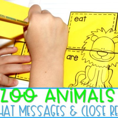 Zoo Animals | Chit Chat Messages & Close Reading