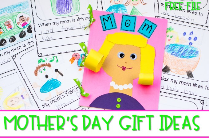 Mother's Day Book Gift and Keepsake from Kindergarten or 1st Grade FREE Sample! Easy classroom project for your kids to make!