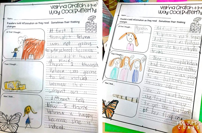 5 reading lesson ideas for Velma Gratch and the Way Cool Butterfly. K-2 Reading Comprehension lessons, responding to literature, and a FREE FILE!